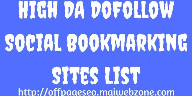 High PR Social Bookmarking Submission Sites List 2019 | Off