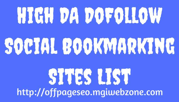 High DA Social Bookmarking Sites List 2019 | DoFollow Social