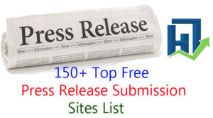 High PR Free Press Release Submission Sites List