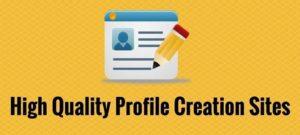 High pr do follow Profile Creation Sites list 2018