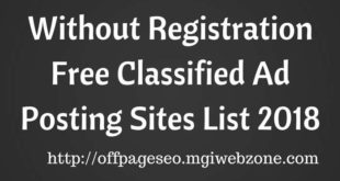Without Registration Free Classified Ad Posting Sites List 2018