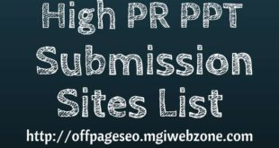 High PR DoFollow PPT Submission Sites List