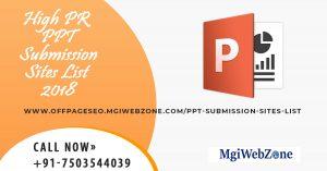 High PR PPT Submission Sites List 2020