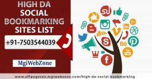 High DA Social Bookmarking Sites List 2020