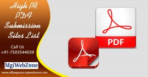 High PR PDF Submission Sites List 2020