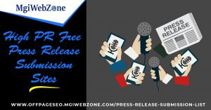 High PR Free Press Release Submission Sites 2020