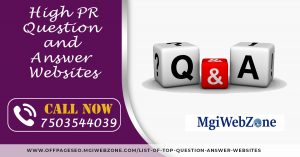 High PR Question and Answer Websites 2020