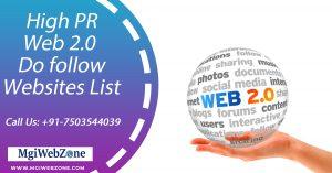 High PR Web 2.0 Do follow Websites List