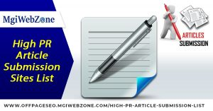 High PR Article Submission Sites List 2020