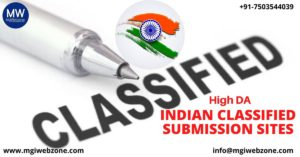 HIGH DA INDIAN CLASSIFIED SUBMISSION SITES
