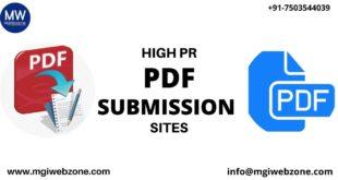 HIGH PR PDF SUBMISSION SITES