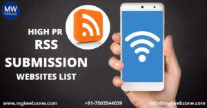 HIGH PR RSS SUBMISSION WEBSITES LIST