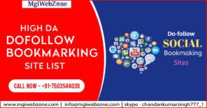 High DA Dofollow Bookmarking Site List