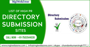 List of High PR Directory Submission Sites
