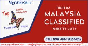 Malaysia Classified Website Lists with High DA