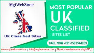 Most Popular UK Classified Sites List