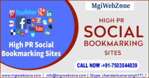 Social Bookmarking Sites with High PR