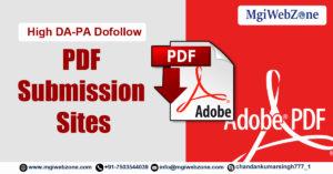 High DA-PA Dofollow PDF Submission Sites