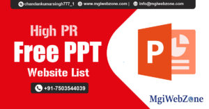 High PR Free PPT Submission Sites